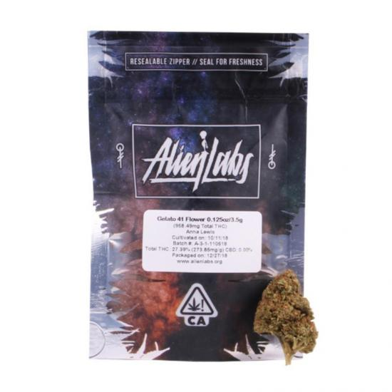alien labs california conforme mylar sacs 3.5 grammes